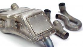 Marmitta Aprilia SXV 550 riparata