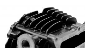 Verniciatura polvere cilindro moto epoca Yamaha SR 500