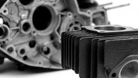 Verniciatura polvere blocco motore Suzuki RV 90
